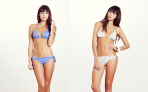 swimwear, girl, bikini, brunette, collage, Beatriz Fernandez