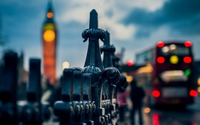 macro, traffic, Westminster, Big Ben, depth of field, London