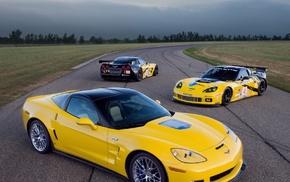 car, forest, Corvette
