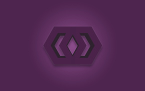 logo, hex, Photoshop, purple, Revealed Design