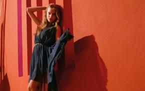 model, girl, auburn hair, Tanya Mityushina, looking at viewer, fashion