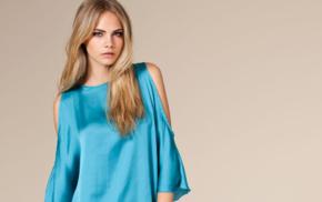 simple background, dress, girl, fashion, model, Cara Delevingne