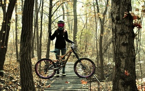 girl with bikes, bicycle, mountain bikes, helmet