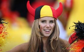 freckles, face paint, hat, horns, Axelle Despiegelaere, Belgium