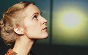blonde, musician, Agnes Obel, girl, profile, braids
