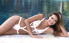 brunette, armpits, girl, girl outdoors, swimwear, Anna Herrin