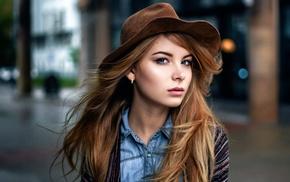 model, portrait, Maxim Guselnikov, Irina Popova, girl, hat