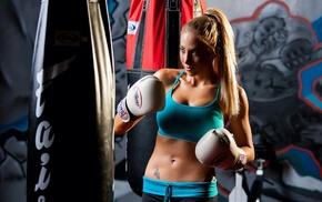 boxing, sport, girl