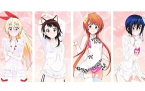 anime girls, Kirisaki Chitoge, Onodera Kosaki, anime, Nisekoi, Tachibana Marika