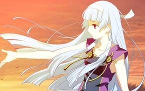 wind, Nagi Kannagi, anime girls, sky, Kannagi