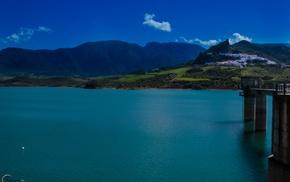 blue, swamp, sky, campo, green, nature