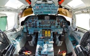 strategic bomber, Tupolev Tu, 160, Russian Air Force, airplane, cockpit