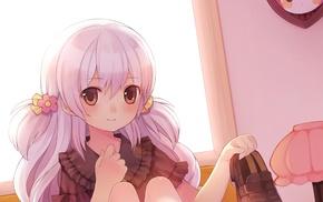 anime girls, shoes, room