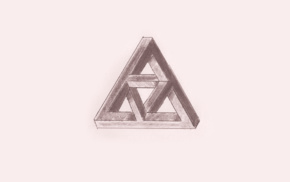 Penrose triangle, triangle, drawing, sketches