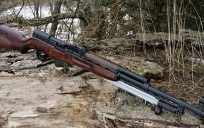 gun, bayonet, SKS
