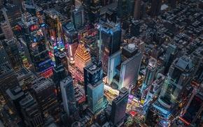 New York City, skyline, city, Times Square
