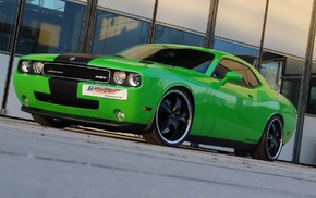 Dodge, car, SRT, Dodge Challenger, green cars
