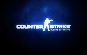 Counter, Strike Global Offensive, black, cs, dark, blue background