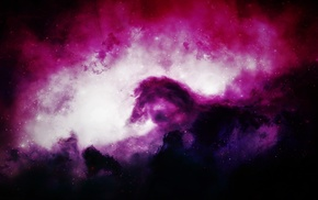 stars, black, pink, purple, dark, galaxy