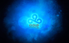 9, Cloud9, black, blue