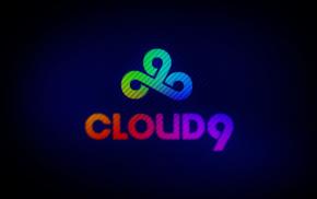 Cloud9, rainbows, 9, cs, blue
