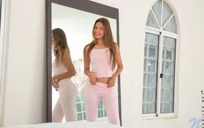 pornstar, mirror, Kiara Lorens, girl