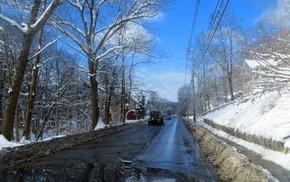 Truck, vans, Vermont, salenalettera, snow, nature