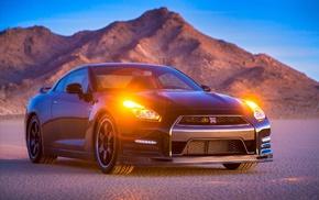 Nissan GTR, car, mountains, desert, Nissan