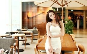 girl, interior, model, Asian