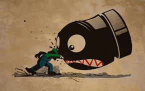 artwork, video games, Bullet Bill, Luigi, Super Mario