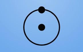 minimalism, hydrogen, atoms