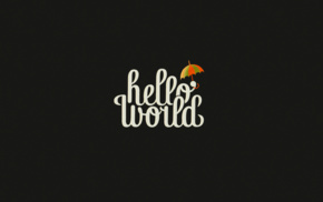 texture, Hello World, typography