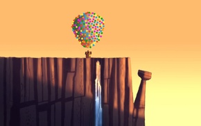 Up movie, balloon, artwork