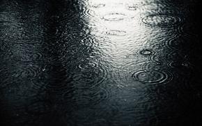 water, gloomy, rain