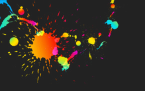 paint splatter, colorful