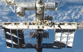 International Space Station, brown, Earth, Solar System, ISS, white