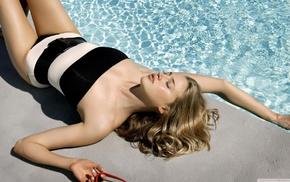 girl, model, closed eyes, Estella Warren, sunbathing, one