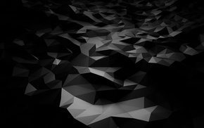 abstract, shining, black, dark, 3D