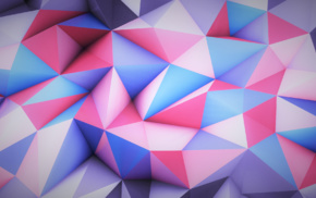 pink, blue, 3D, bright, abstract, colorful
