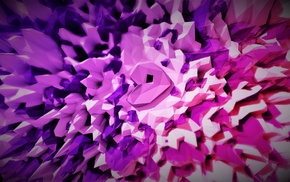 bright, purple, pink, white, abstract, shards