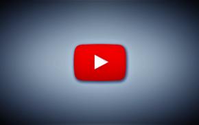 red, simple, 3D, digital art, white, YouTube