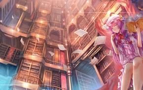 Touhou, anime, anime girls, Patchouli Knowledge, dress