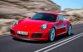 Porsche, motion blur, car, red cars