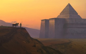 artwork, pyramid, fantasy art