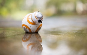 toys, water, Star Wars, BB, 8, reflection