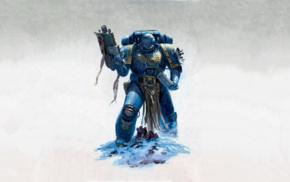 Warhammer 40, 000, Ultramarines, space marines, digital art