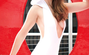 actress, Alison Brie, one, piece swimsuit, swimwear, looking at viewer