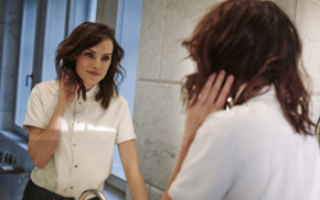 celebrity, actress, Daisy Ridley, reflection, brunette, mirror