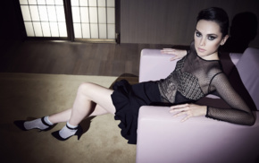 Daisy Ridley, actress, celebrity, armchairs, see, through clothing