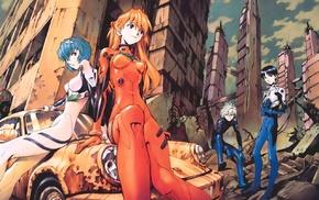 Neon Genesis Evangelion, Ayanami Rei, Asuka Langley Soryu, Ikari Shinji